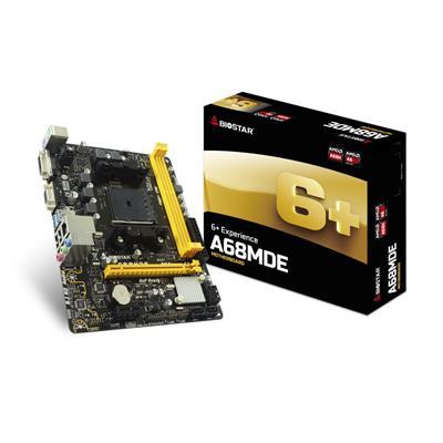 Biostar A68MDE AMD Socket FM2+ Micro ATX DDR3 D-SUB/DVI-D USB 3.1 Motherboard