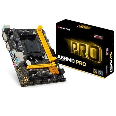 Biostar A68MD PRO Ver. 6.x AMD Socket FM2+/FM2 Micro ATX DDR3 VGA/DVI USB 3.0 Motherboard