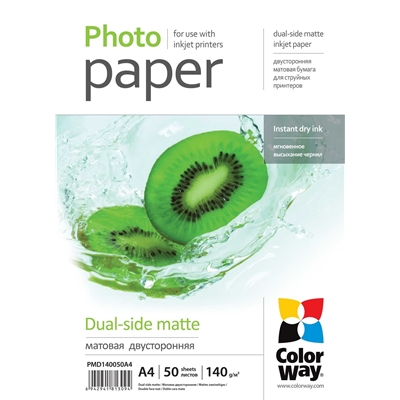 ColorWay Matte A4 140gsm Dual Side Photo Paper 50 Sheets