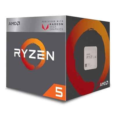 AMD Ryzen 5 2400G with RADEON RX VEGA 11 Graphics 3.6GHz Quad Core AM4 Socket Overclockable Processor