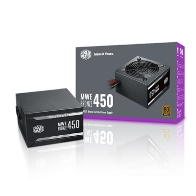 Cooler Master MWE 450W 120mm Silencio Fan 80 PLUS Bronze PSU