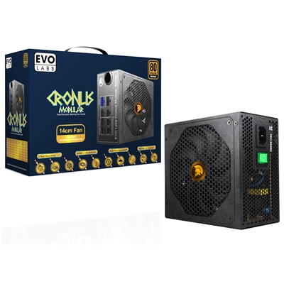 Cronus E-CR550M 550W 140mm Ultra Silent Intelligent Temperature Controlled FDB Fan 80 PLUS Bronze Semi Modular PSU