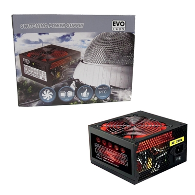 Evo Labs BR500-12R 500W 120mm Red Silent Fan PSU