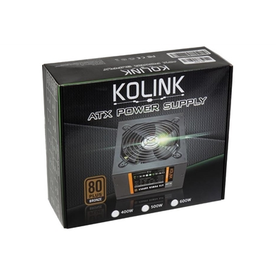 Kolink KL Series 400W 120mm Silent Fan 80 PLUS Bronze PSU