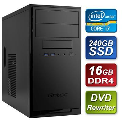 Antec Intel i7-7700 Quad Core 3.6GHz 16GB DDR4 RAM 240GB Kingston SSD DVDRW Prebuilt System