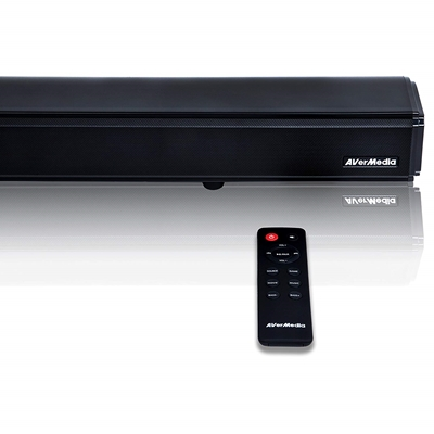 AVerMedia GS333 Sonicblast Gaming 60W 2.1 Channel Soundbar with Built in Subwoofer