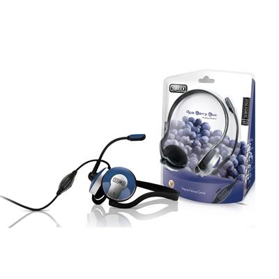 Sweex 3.5mm Acai Berry Blue Neckband Headset