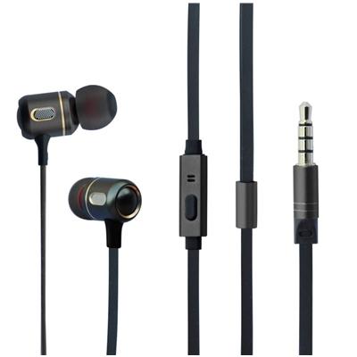 Hipoint EPH-M191 In-Ear 3.5mm Gun Metal Headphones