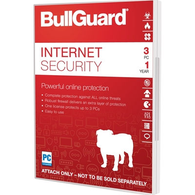 Bullguard Internet Security 2018 1Year/3PC Windows Only Single Soft Box English