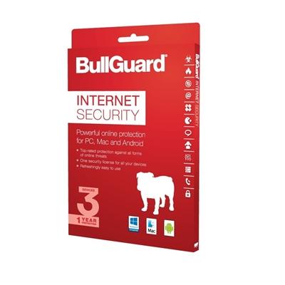 Bullguard Internet Security 2018 1Year/3 Device Multi Device Single Retail License English
