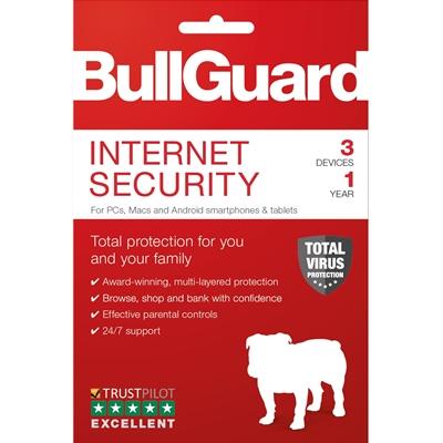 Bullguard Internet Security 2019 1Year/3 Device Multi Device Single Retail License English