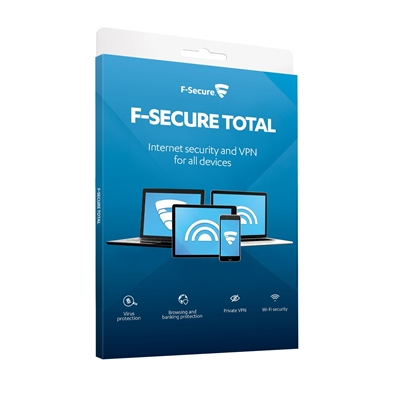 F-Secure Total Privacy and Security Freedome & SAFE 1 Year 5 Device For All Devices Retail Pack