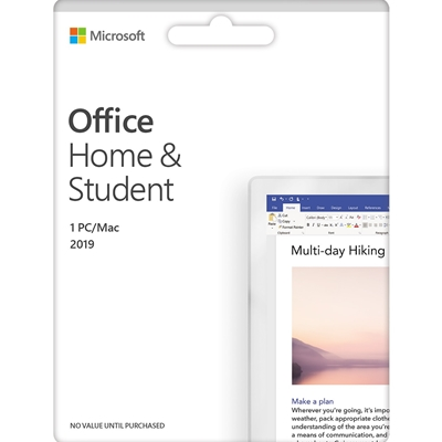 Microsoft Office 2019 Home & Student 32/ 64-Bit English Medialess PKC Software