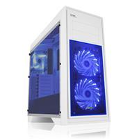 Game Max Titan Midi Tower 2 X Usb 3.0 2 X Usb 2.0 No Psu White With Blue Led Case Gmx-titan-whtblu - Tgt01