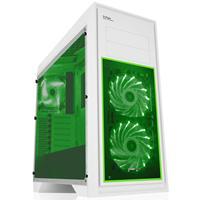 Game Max Titan Midi Tower 2 X Usb 3.0 2 X Usb 2.0 No Psu White With Green Case Gmx-titan-whtgrn - Tgt01