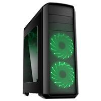 Gamemax Volcano  2 X 12cm Green 16 Led Front Fans Gaming Case Gmxcsvolcanogreen - Tgt01