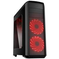 Gamemax Volcano  2 X 12cm Red 16 Led Front Fans Gaming Case Gmxcsvolcanored - Tgt01