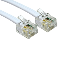 Rj11 To Rj11 White Modem 3m Cable 88bt-103 - Tgt01