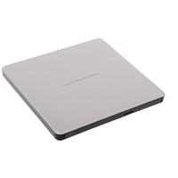 Hitachi-lg Gp60ns60 8x Dvd-rw Usb 2.0 Silver Slim External Optical Drive Gp60ns60 - Tgt01