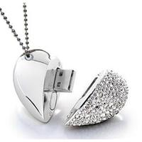 Dimante Heart Necklace 4gb Usbb Flashdrive 4gb Diamante Fla - Tgt01