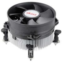 Akasa Ak-cce-7101cp Dual Ball Bearing Intel Socket Aluminium Cooler Ak-cce-7101cp - Tgt01