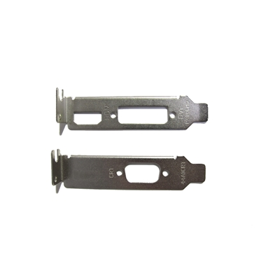 2 X Low Profile Brackets For Graphics Cards Fits DVI + HDMI And