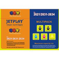 Jetplay T2635 Epson Compatible 4 Colour Cmyk Replacement Ink With Extra Black Pl-2635mpk - Tgt01