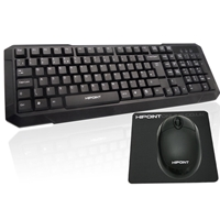 Hi Point Dth250 Keyboard/mouse Optical Desktop Kit With Free Mouse Mat Dth-250 - Tgt01