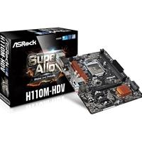 Asrock H110m-hdv Intel Socket 1151 Matx Ddr4 Vga/dvi-d/hdmi Usb 3.0 Motherboard H110m-hdv - Tgt01