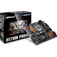 Asrock H170m Pro4s Intel Socket 1151 Micro Atx Ddr4 Dvi-d/hdmi M.2 Usb 3.0 Motherboard H170m Pro4s - Tgt01