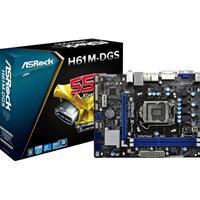 Asrock H61m-dgs Skt 1155 Intel H61 Matx Motherboard H61m-dgs - Tgt01