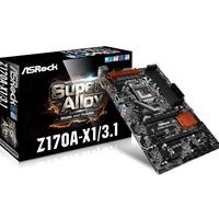 Asrock Z170a-x1/3.1 Intel 6th Gen Core I7/i5/i3/pentium/celeron Socket 1151 Raid Gigabit Lan Atx Motherboard Z170a-x1/3.1 - Tgt01
