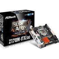 Asrock Z170m-itx/ac 6th Gen Core I7/i5/i3/pentium/celeron Socket 1151 Z170 Raid Gigabit Lan Mini-itx Motherboard Z170m-itx/ac - Tgt01