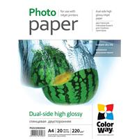 Colorway Glossy A4 220gsm Dual Side Photo Paper 20 Sheets Pgd220020a4 - Tgt01