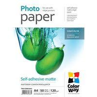 Colorway Matte A4 120gsm Self Adhesive Photo Paper 50 Sheets Pms1208050a4 - Tgt01