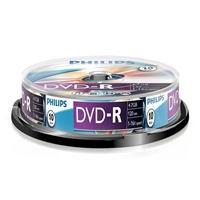 Philips Dvd-r 16x 10 Pk Spindle Phovrg471016sp - Tgt01