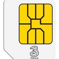 Three 3g Broadband Ready-to-go 1gb Nano Sim Card 37305 - Tgt01