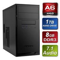 Antec Amd A6-6420k 4.0ghz Dual Core 8gb Kingston Ram 1tb Seagate Hard Drive Dvdrw Prebuilt System Sbbus-an-ad642 - Tgt01