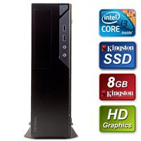 Antec Small Form Factor - Intel I3-6100 3.7ghz Dual Core 8gb Kingston Ram 240gb Kingston Ssd Dvdrw Prebuilt System Sbbus-an-i38ssl - Tgt01