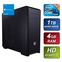 Bitfenix - Intel I3 4170 3.70ghz Dual Core 3.7ghz 4gb Kingston Ram 1tb Seagate Hard Drive Dvdrw With Windows 10 64bit Home Prebuilt System Sbbus-bf-i34170w - Tgt01