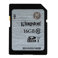 Kingston Sdhc/sdxc 16gb Class 10 Uhs-i Flash Card Sd10vg2/16gb - Tgt01