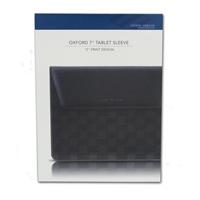 "Joseph Abboud Oxford 7"" 1/2 Z Print 1/2  Genuine Leather Tablet Sleeve"
