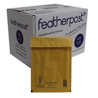 Featherpost Size C/0 170mm X 225mm Box Of 100 Bubble Lined Mailers C/o 170mm X 225mm - Tgt01