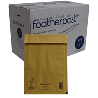 Featherpost Size D/1 200mm X 275mm Box Of 100 Bubble Lined Mailers D1 200mm X 275mm - Tgt01