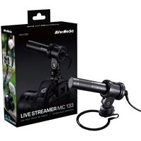 Avermedia Am133 Professional Live Streamer Microphone For Pc/mac/digital Slr 40aaam133ar4 - Tgt01