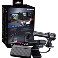 Avermedia Bo311s Live Streamer 311s Full Streaming Starter Kit (webcam, Mic And Capture Device) 61bo311s00al - Tgt01