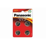 Panasonic Lithium Pack of 4 Coin Cell CR2016 Batteries