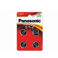 Panasonic Lithium Pack of 4 Coin Cell CR2032 Batteries