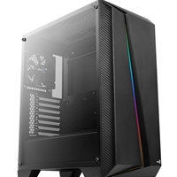 Aerocool Cylon Pro Mid Tower 1 X Usb 3.0 / 2 X Usb 2.0 Tempered Glass Side Window Panel Black Case With Rgb Led Lighting Accm-pb10013.11 - Tgt01