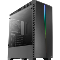 Aerocool Scar Mid Tower 2 X Usb 3.0 / 2 X Usb 2.0 Tempered Glass Side Window Panel Black Case With Rgb Led Lighting Accm-pb11013.11 - Tgt01